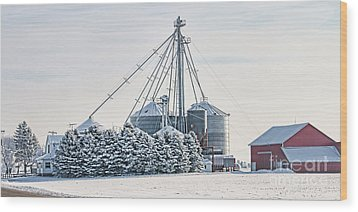 Winter Farm  7365 Wood Print by Jack Schultz