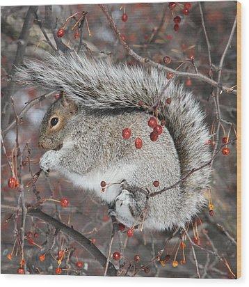 Winter Feast Wood Print