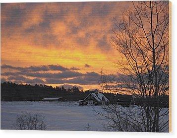 Winter Fire Wood Print