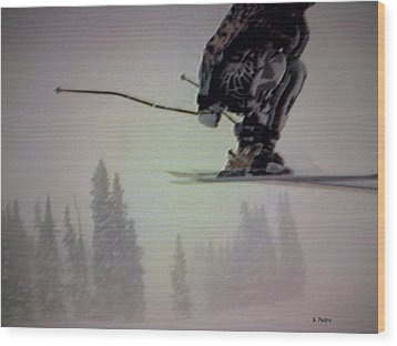 Winter Flight Wood Print by George Pedro
