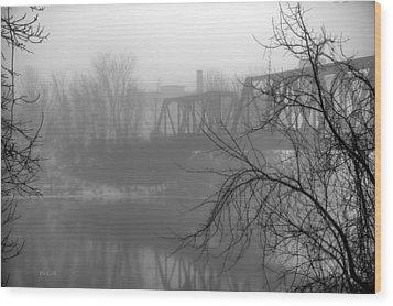 Winter Fog Wood Print by Bob Orsillo