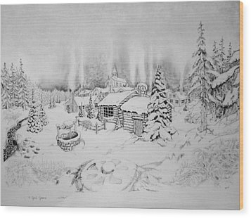 Winter Wood Print by Geni Gorani