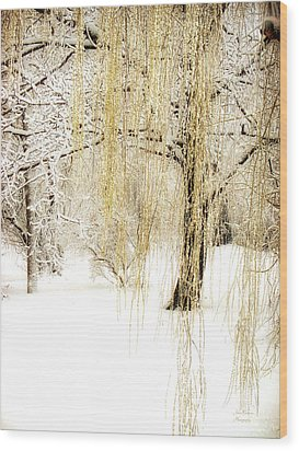 Winter Gold Wood Print by Julie Palencia