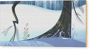 Winter Grace Wood Print