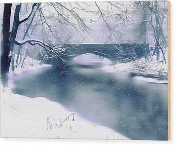 Winter Haiku Wood Print