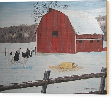 Winter Haven Wood Print by Norm Starks