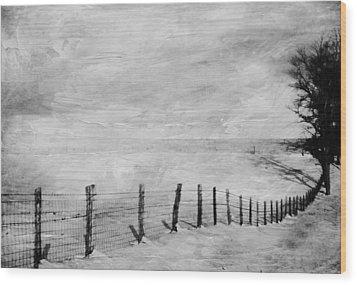 Winter Haze Wood Print by Kathy Jennings