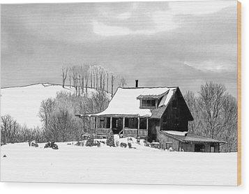 Winter Home Wood Print by John Haldane