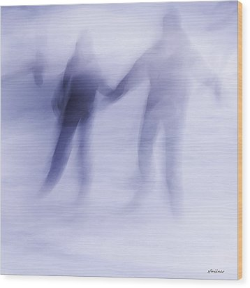 Wood Print featuring the photograph Winter Illusions On Ice - Series 1 by Steven Milner
