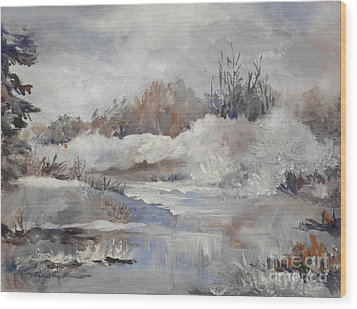 Winter Impressions Wood Print by Suzanne Schaefer