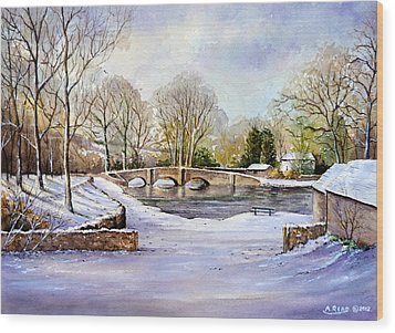 Winter In Ashford Wood Print by Andrew Read