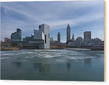 Winter In Cleveland Wood Print by Dale Kincaid