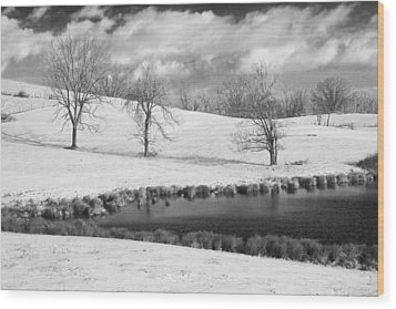 Winter In Kentucky Wood Print by Wendell Thompson