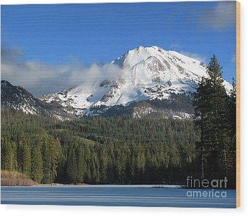 Winter In Lassen National Park Wood Print