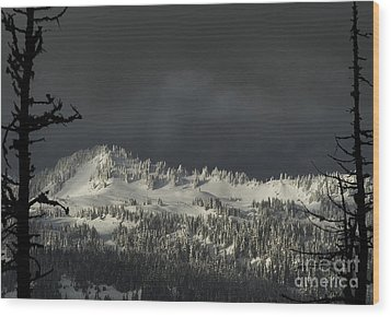 Wood Print featuring the photograph Winter In North Cascades by Yulia Kazansky