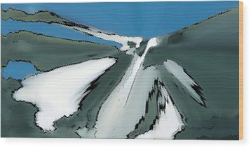 Winter In The Mountains Wood Print by Ben and Raisa Gertsberg