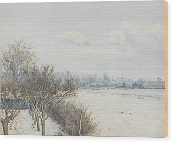 Winter In The Ouse Valley Wood Print by William Fraser Garden
