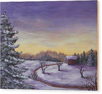 Winter In Vermont Wood Print by Anastasiya Malakhova