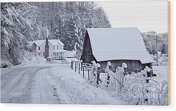 Winter In Virginia Wood Print by Benanne Stiens