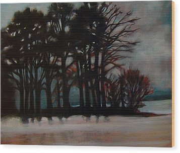Wood Print featuring the painting Winter by Irena Mohr