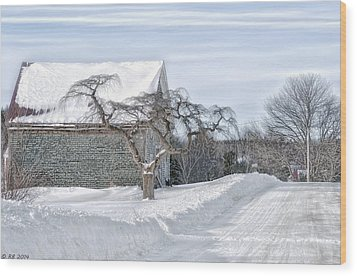 Winter Is Our Guest Wood Print by Richard Bean