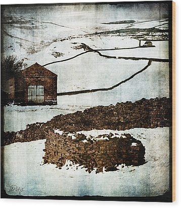 Winter Landscape 2 Wood Print by Mark Preston