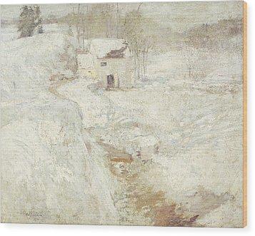 Winter Landscape Wood Print by John Henry Twachtman