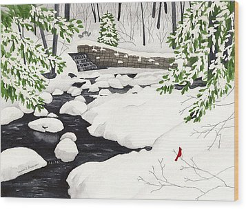 Winter Landscape - Mill Creek Park Wood Print