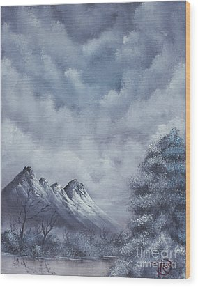 Winter Landscape Wood Print by Troy Wilfong