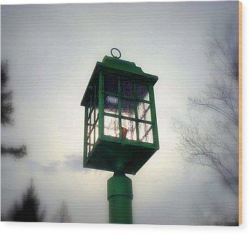 Winter Light Wood Print by J Allen