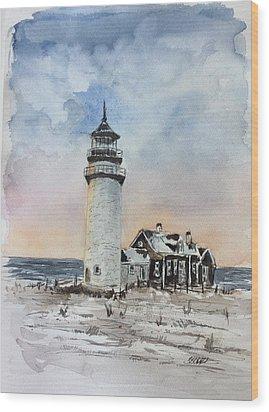 Winter Light Wood Print by Stephanie Sodel