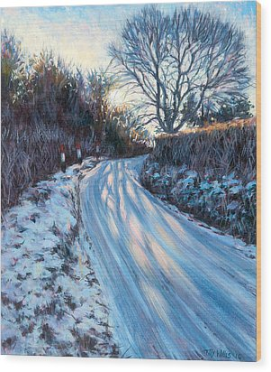 Winter Light Wood Print by Tilly Willis