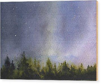 Winter Lights Wood Print