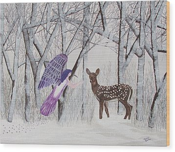 Winter Magic Wood Print by Cheryl Bailey