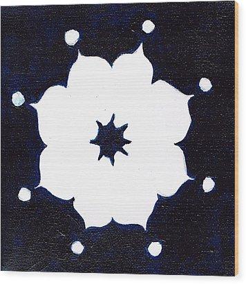 Winter Mandala Wood Print