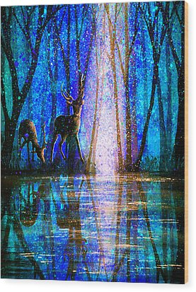 Winter Melody Wood Print by Ann Marie Bone