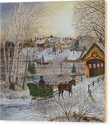 Winter Memories 1 Of 2 Wood Print by Doug Kreuger