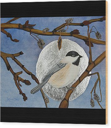Winter Moon Wood Print by Amy Reisland-Speer