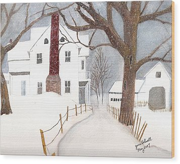 Winter Morning At The Big White House Wood Print by June Holwell
