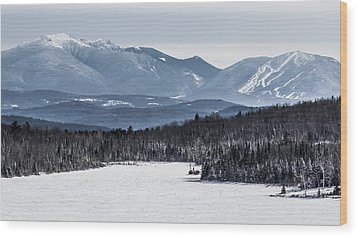 Winter Mountains Wood Print