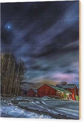 Wood Print featuring the photograph Winter Night by Rose-Maries Picturtes