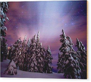 Winter Nights Wood Print