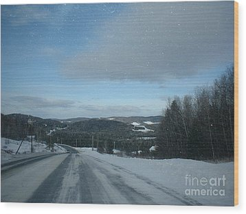 Winter Norhtern Maine Wood Print by Kristine Bailey