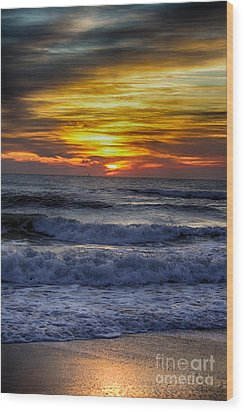 Winter North Carolina Sunrise Wood Print by Tony Cooper