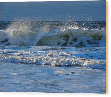 Winter Ocean At Nauset Light Beach Wood Print