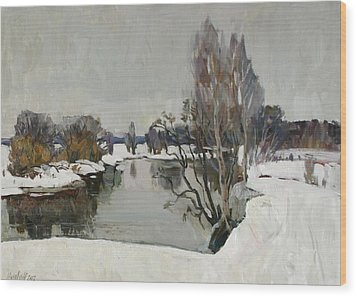 Winter On River Kliazma Wood Print