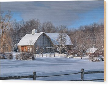 Wood Print featuring the photograph Winter On The Farm 14586 by Guy Whiteley