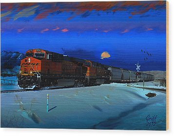 Winter On The Joint Line Of Colorado Wood Print by J Griff Griffin