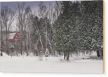 Winter Postcard Wood Print by Gwen Gibson