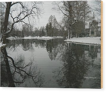 Winter Reflections 2 Wood Print by Kathy Barney